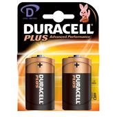 Duracell Plus D Alkaline Battery Pack 2 Batteries