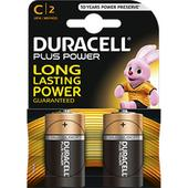Duracell Plus C Alkaline Battery Pack 2 Batteries