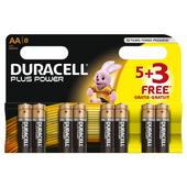 Duracell Plus AA Alkaline Battery Pack 8 Batteries