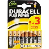 Duracell Plus AAA Alkaline Battery Pack 8 Batteries