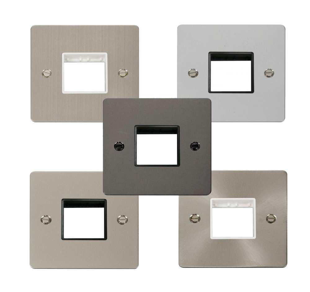define flat 1 gang plate twin switch aperture define mini gr