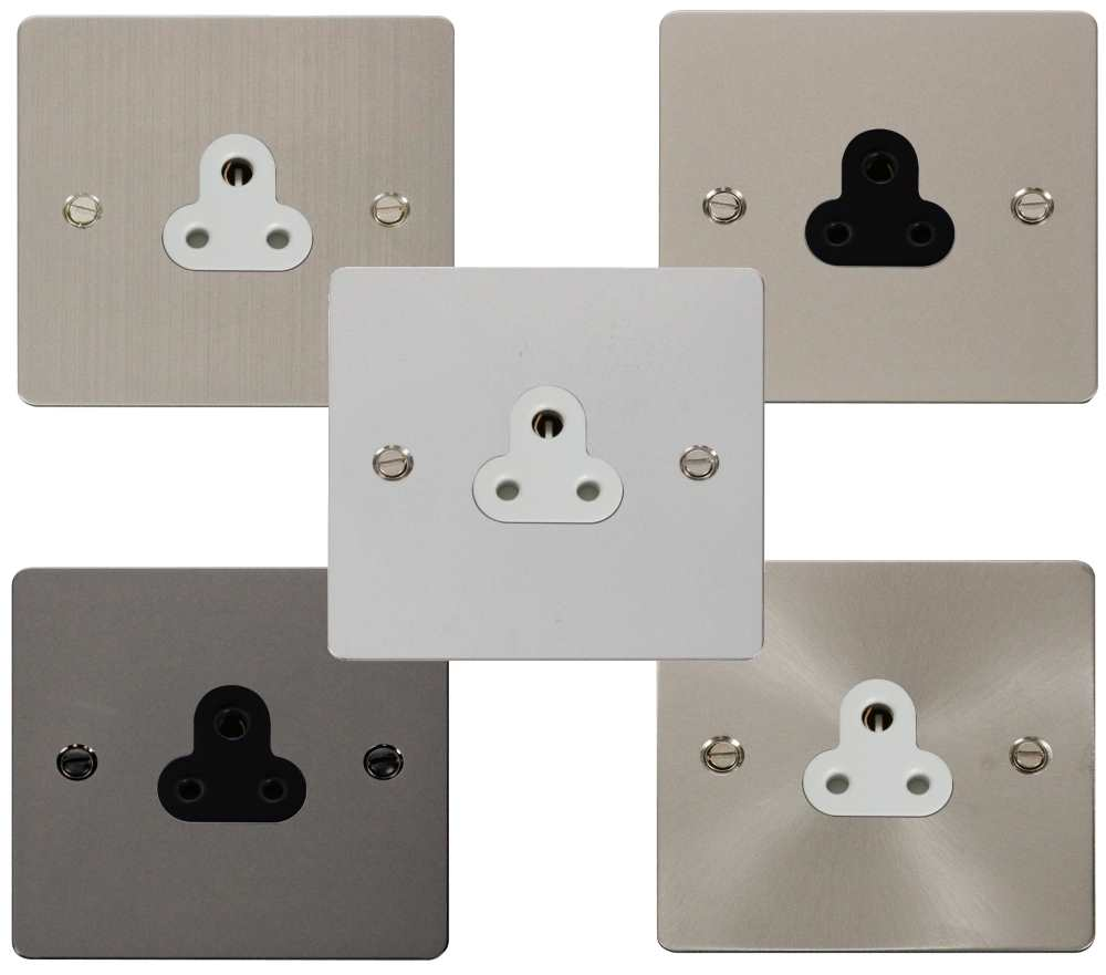 Define Flat 2A Round Pin Socket Outlet