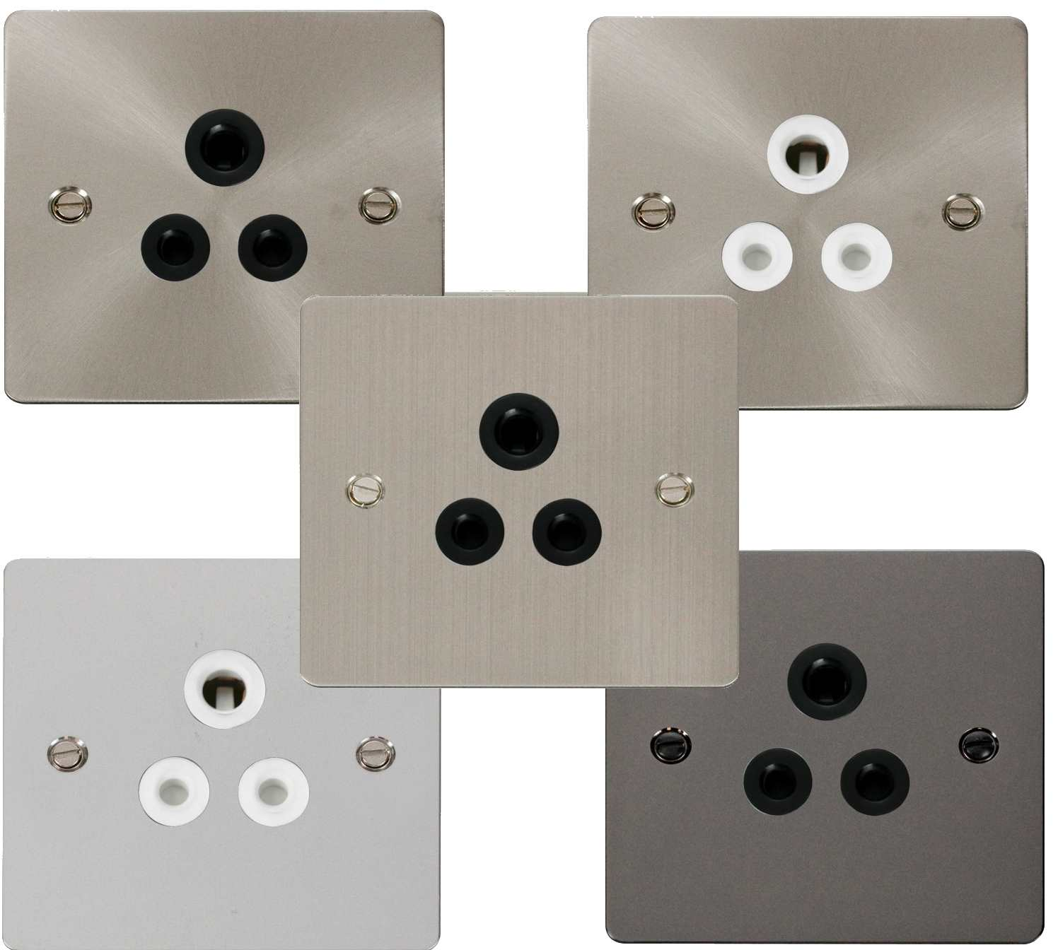 Define Flat 5A Round Pin Socket Outlet