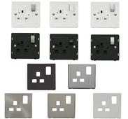 Definity Screwless 1 Gang 13A Switched Sockets