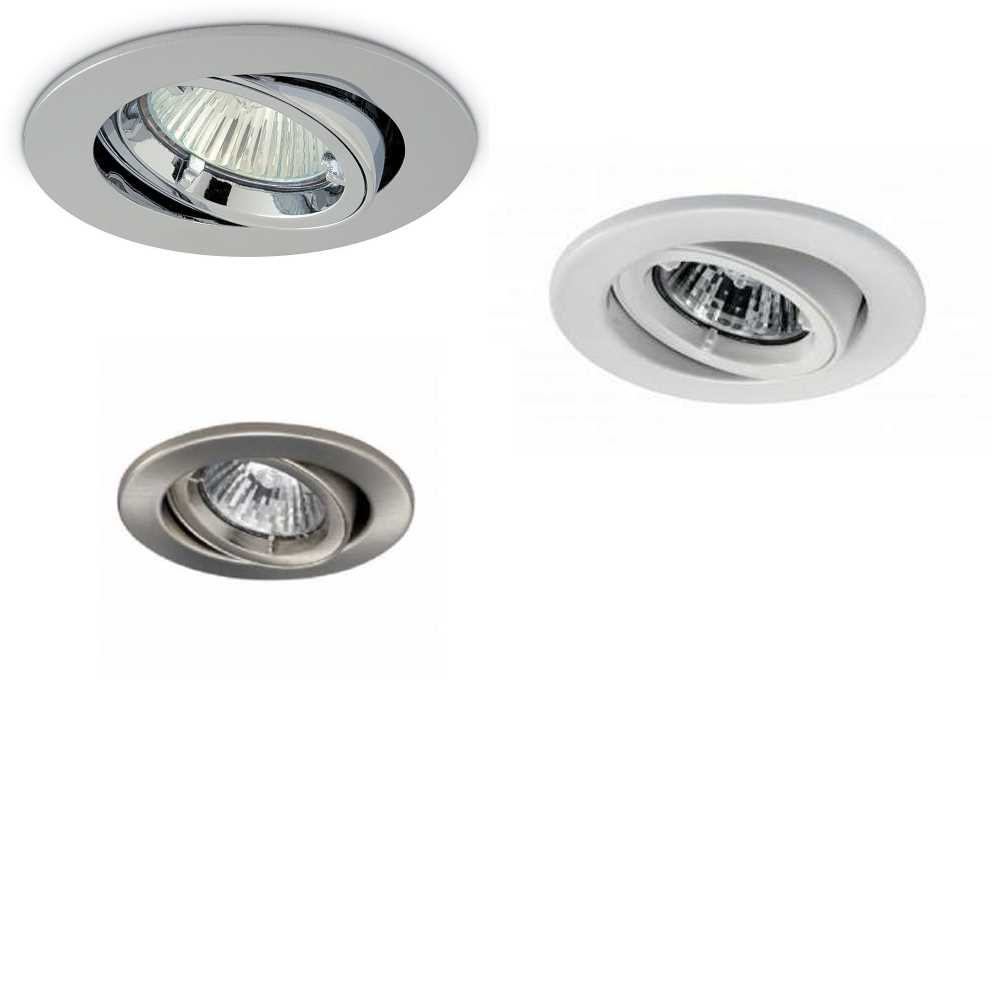 JCC Fire Rated Twist & Lock Tiltable Mains GU10 Recessed Downlights IP20