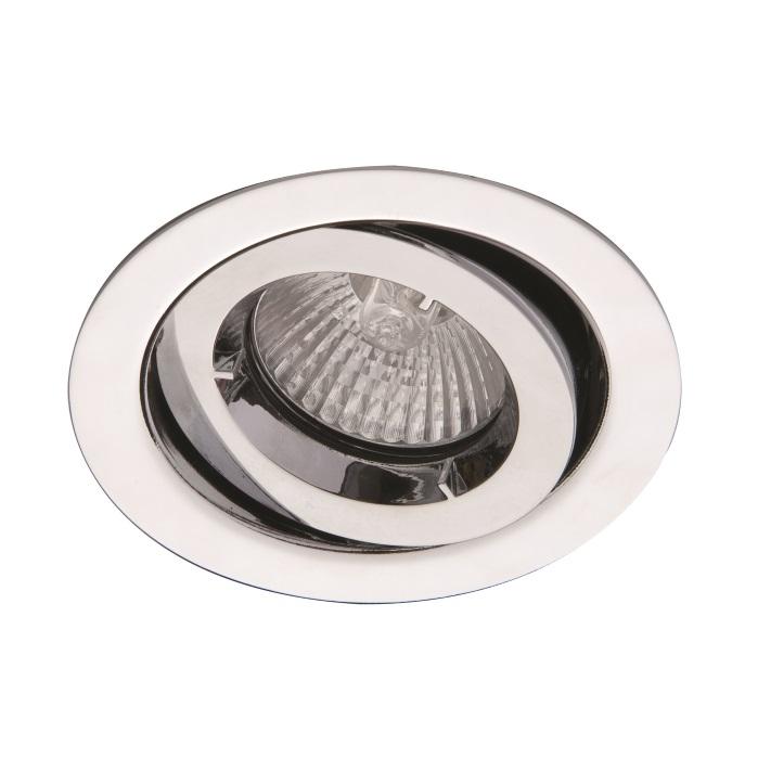 Ansell iCage Mini Tilt LED Downlight Satin Chrome Fire Rated