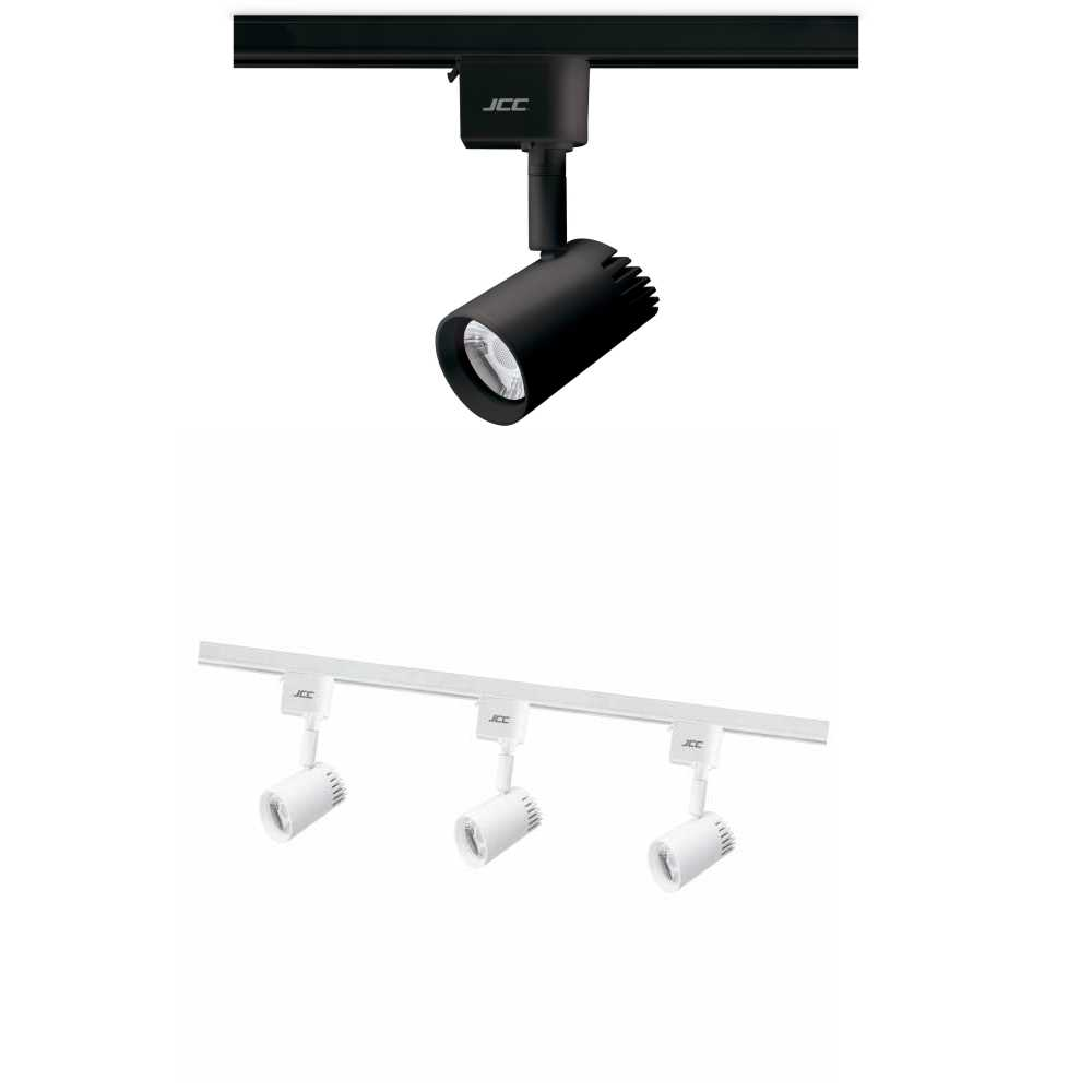 JCC Starspot 600 LED Dimmable Track Spotlights 7W Black or White