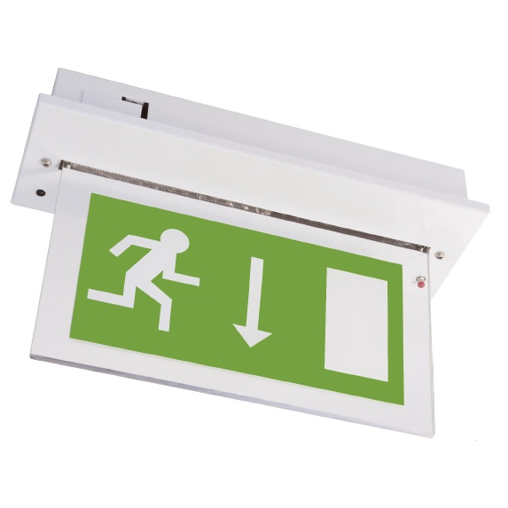 Channel Vale White Maintained LED Emergency Exit Sign