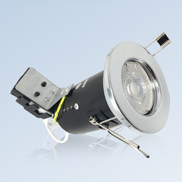 Fire Rated Fixed GU10 Ceiling Spotlights Downlights with LED Bulbs
