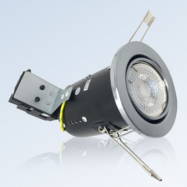 Fire Rated GU10 Tilt Ceiling Spotlights Downlights with LED Bulbs