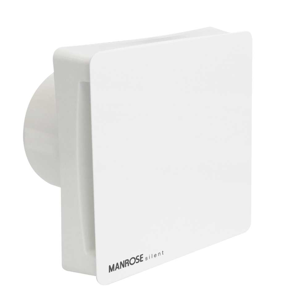 "Manrose 4"" Conceal Axial Silent White Bathroom Extractor ..."