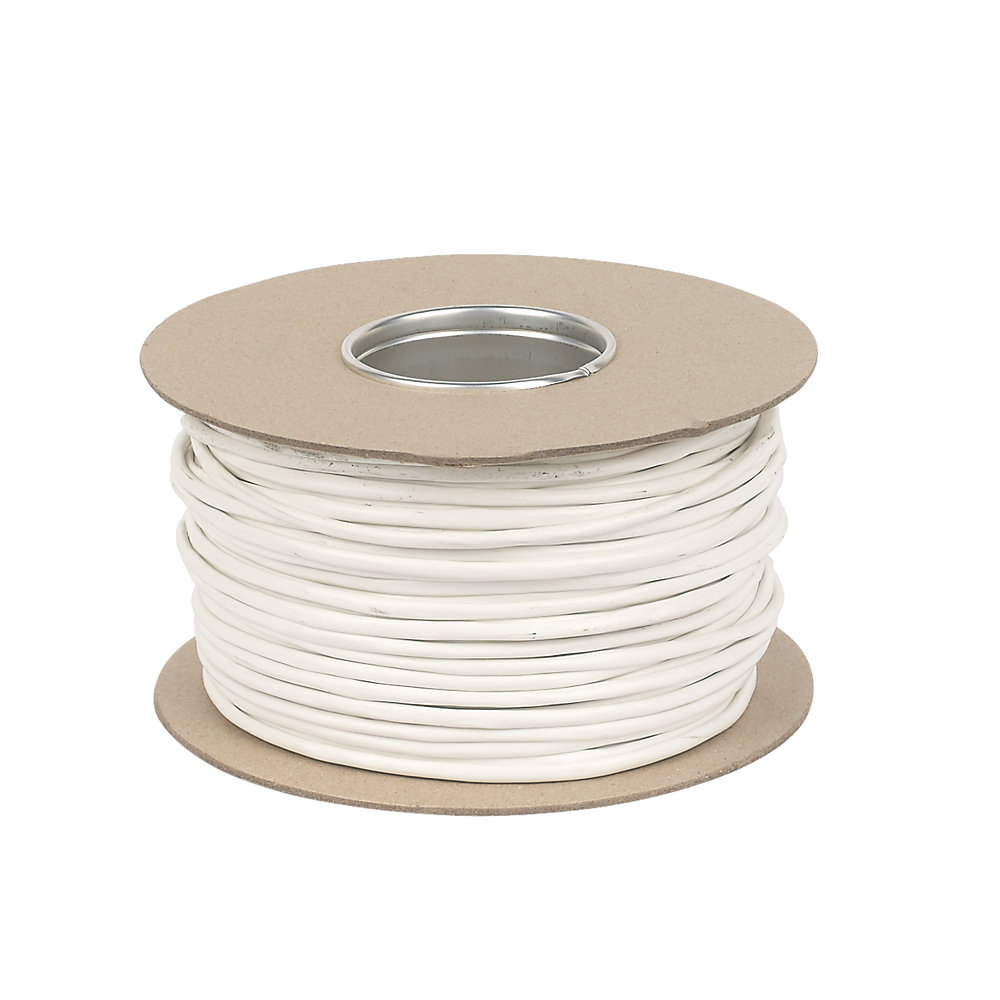 CW1308 Telephone Cable White Per 100 MTR DRUM 2 3 or 4 Pair