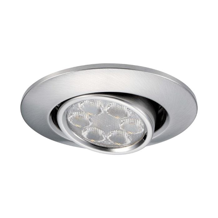 JCC FGLED6 Tilt Dimmable LED Brushed Nickel Downlight CW