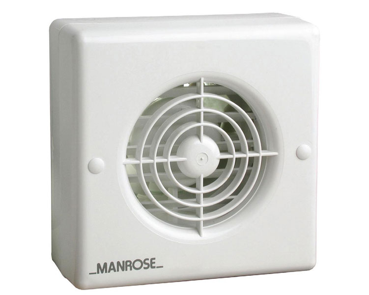 Manrose xf100auto 4 auto shutter axial bathroom - Bathroom ceiling extractor fan with light ...