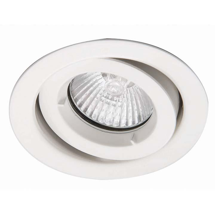 Ansell iCage Mini Tilt LED Downlight Matt White Fire Rated