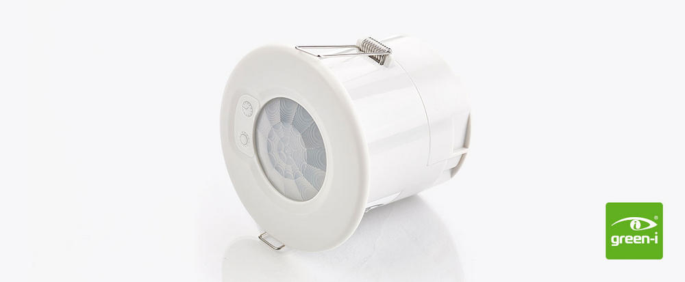 Low Profile Push Button Flush Mounted Ceiling PIR Presence Detector