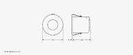 Low Profile Push Button Flush Mounted Ceiling PIR Presence Detector