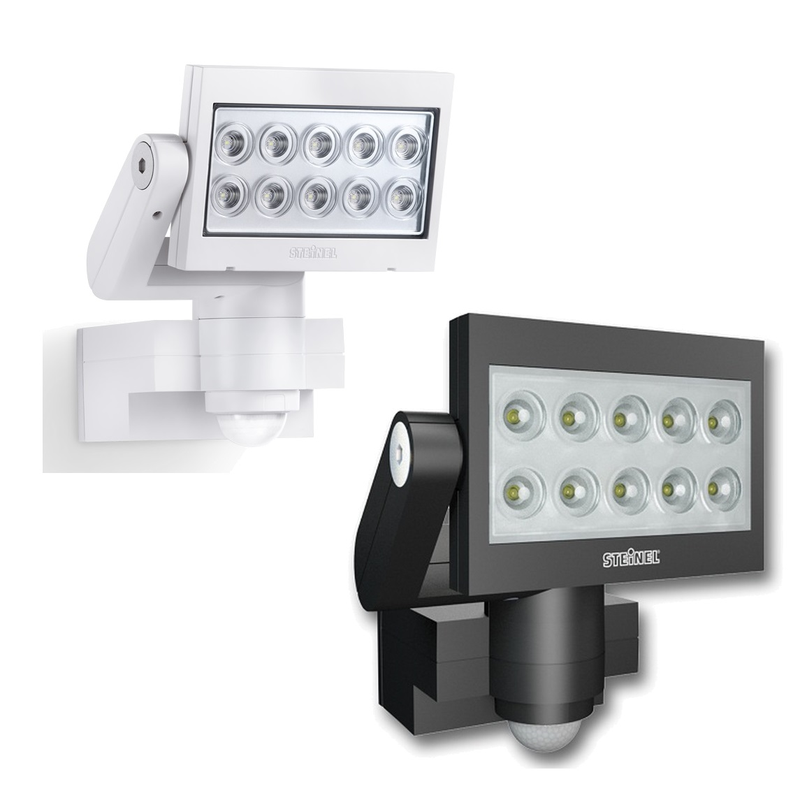 steinel xled 10 led sensor floodlights xled10 steinel led floodlights. Black Bedroom Furniture Sets. Home Design Ideas