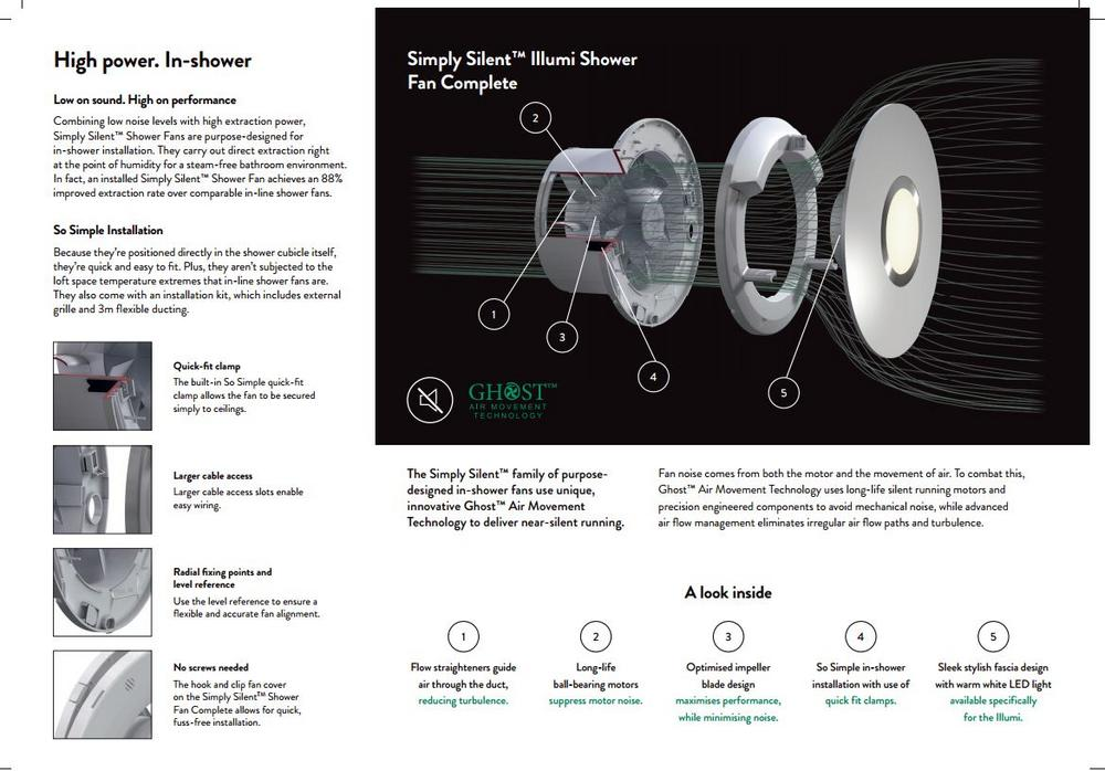 xpelair simply silent shower fan complete optional light for rh fastlec co uk
