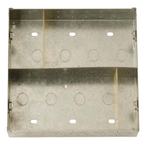 Click New Media Module Plate 47mm Deep Back Box & Central Divider