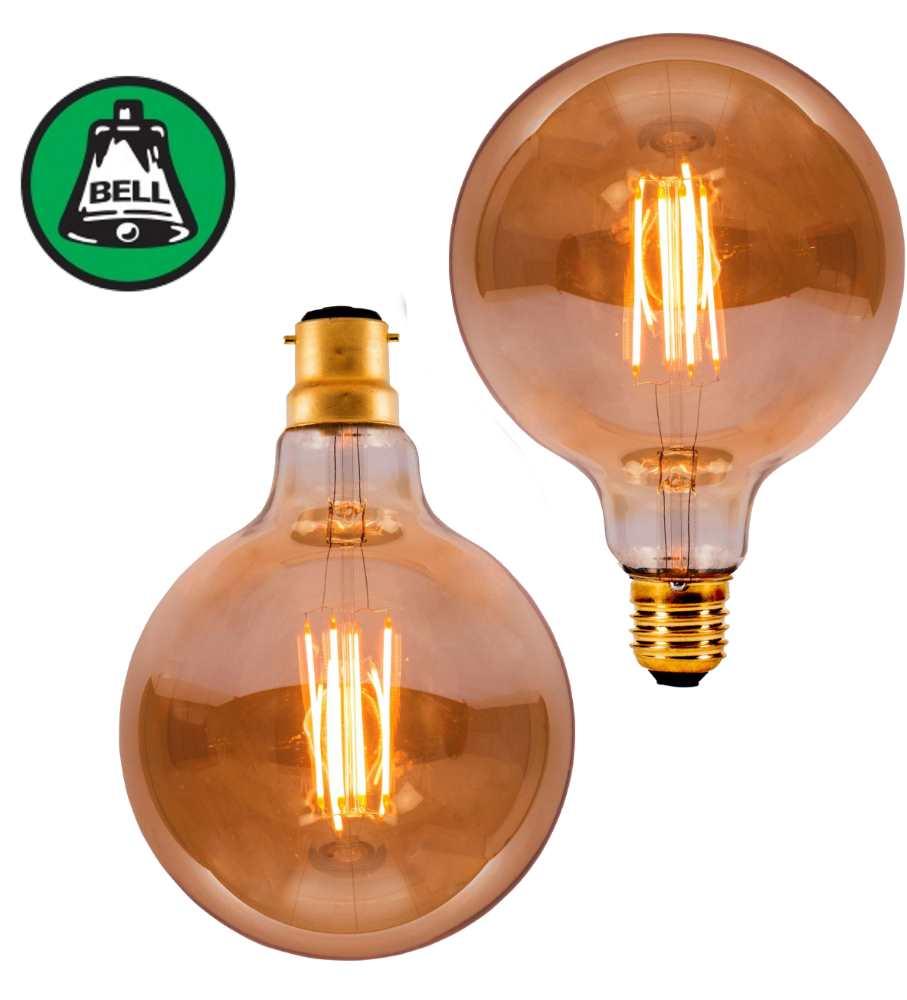 Bell 4W LED Bulbs Vintage 125mm Globe Amber 2000K