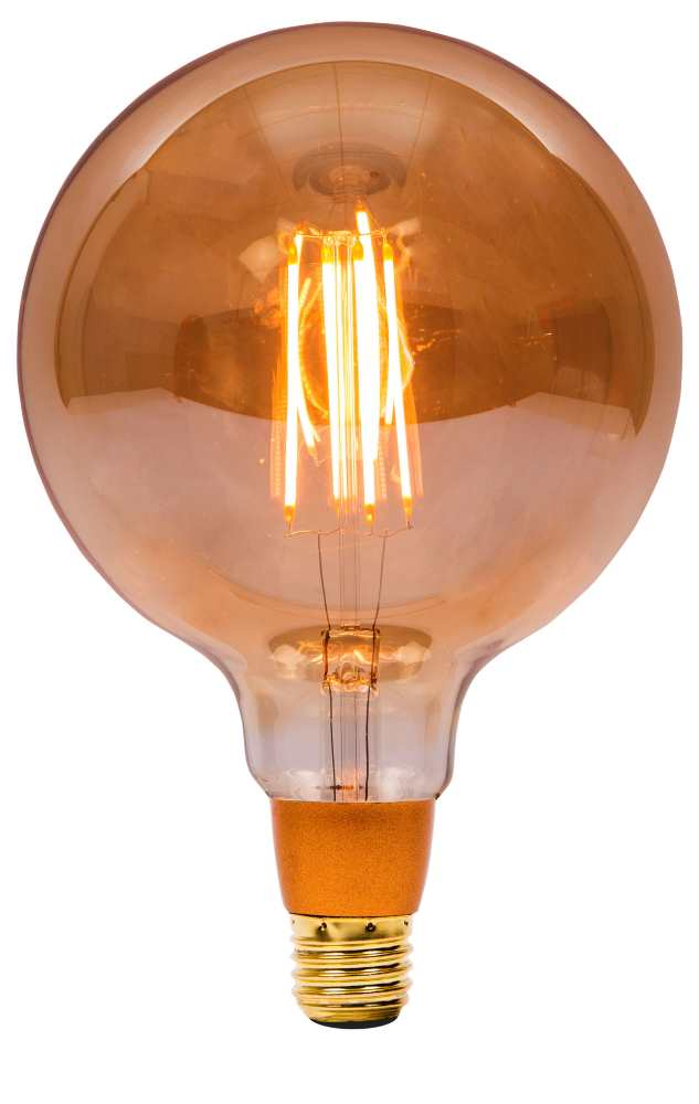 Bell 4W LED Bulbs Vintage 125mm Globe Amber 2000K