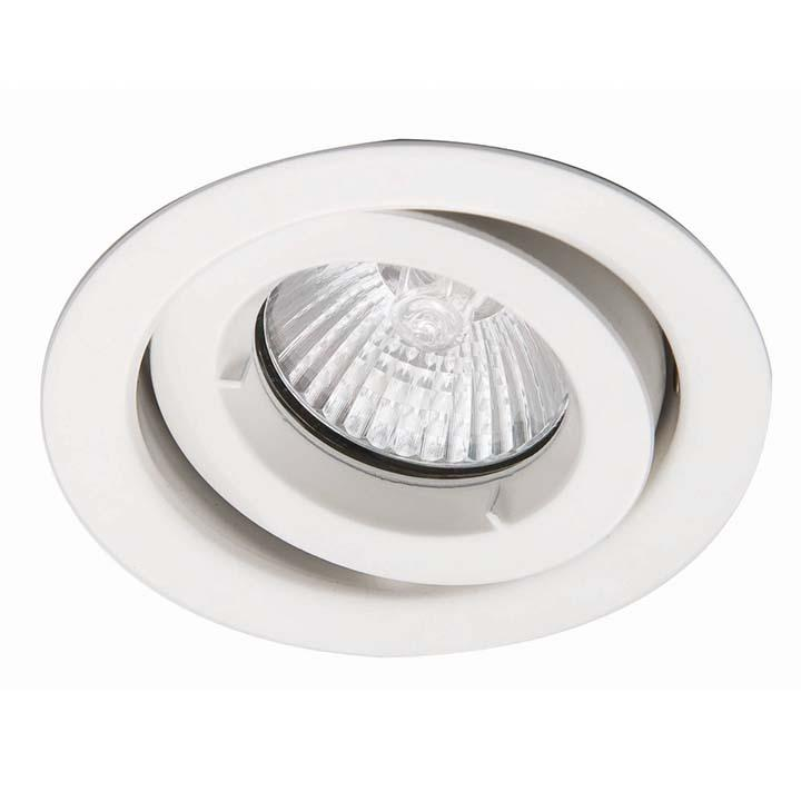 Ansell iCage Mini Tilt LED Downlight White Fire Rated
