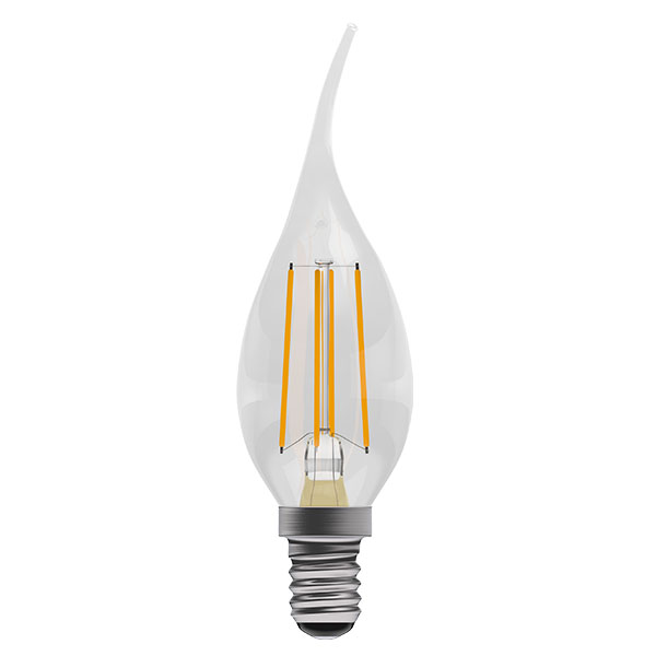 Bell 4W LED Bulbs Filament Bent Tip Clear Candle 2700K Warm
