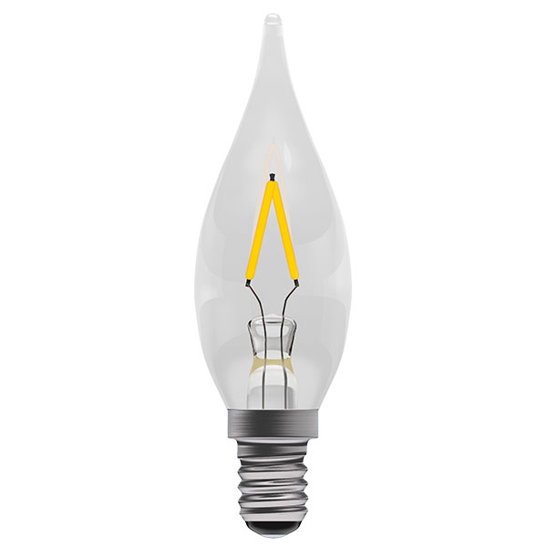 Bell 1W LED Bulbs Filament Chandelier Clear 2700K Warm