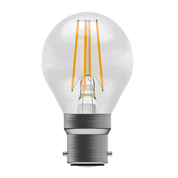 Bell 4W LED Bulbs Filament Clear Round Golfball 2700K Warm