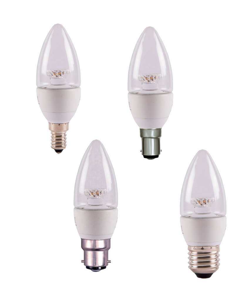 Bell 7W LED Bulbs Candle Clear 2700K Warm Dimmable Options