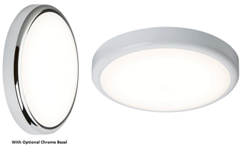 Knightsbridge LED Flush Bulkhead Lights 230V IP44 14W 4000K or 6000K White 315mm