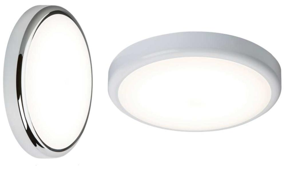 Knightsbridge LED Flush Bulkhead Lights 230V IP44 14W 4000K or 6000K White 315mm
