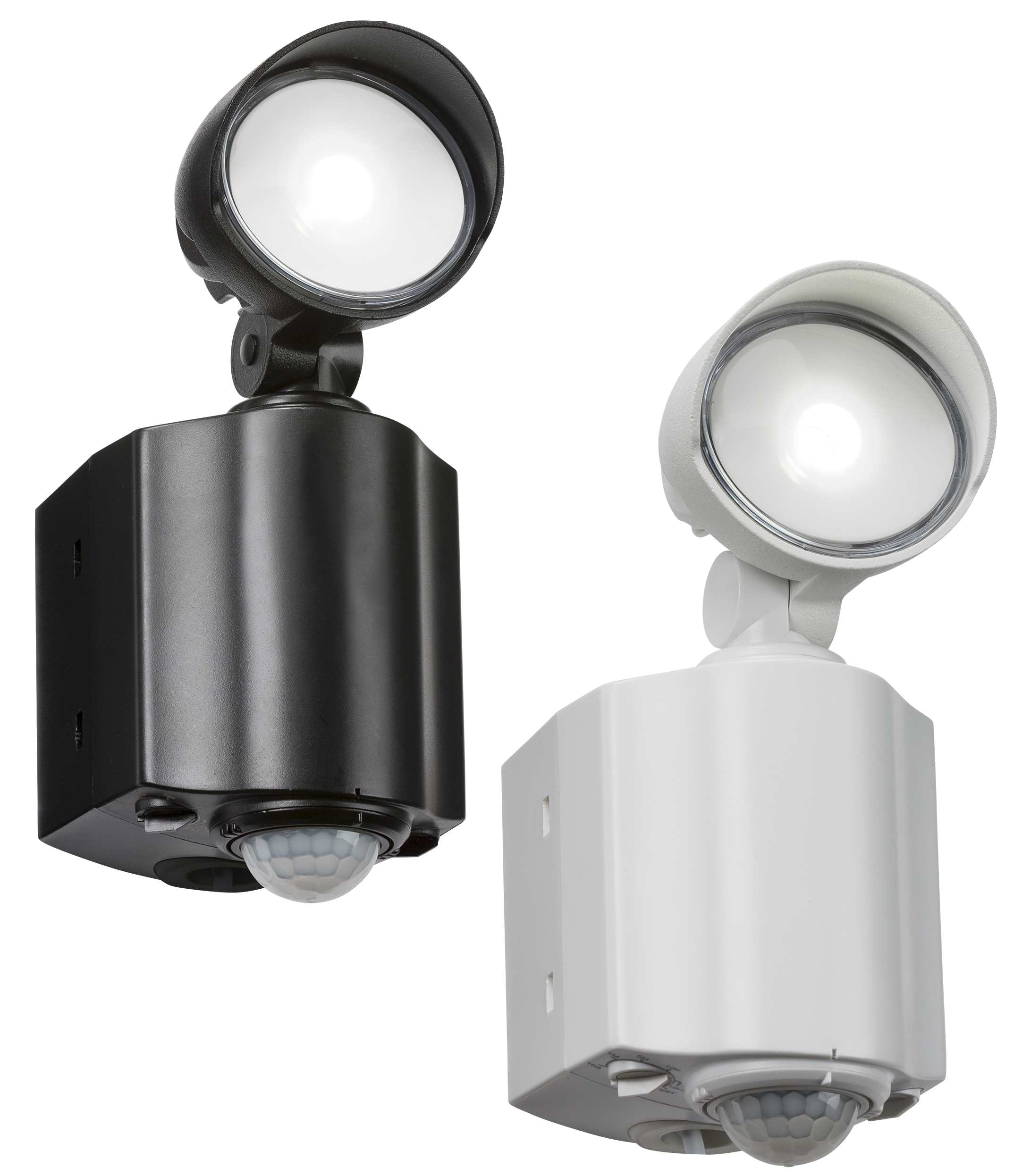 Knightsbridge 8w Led Single Spot Security Light With Pir Black Or White