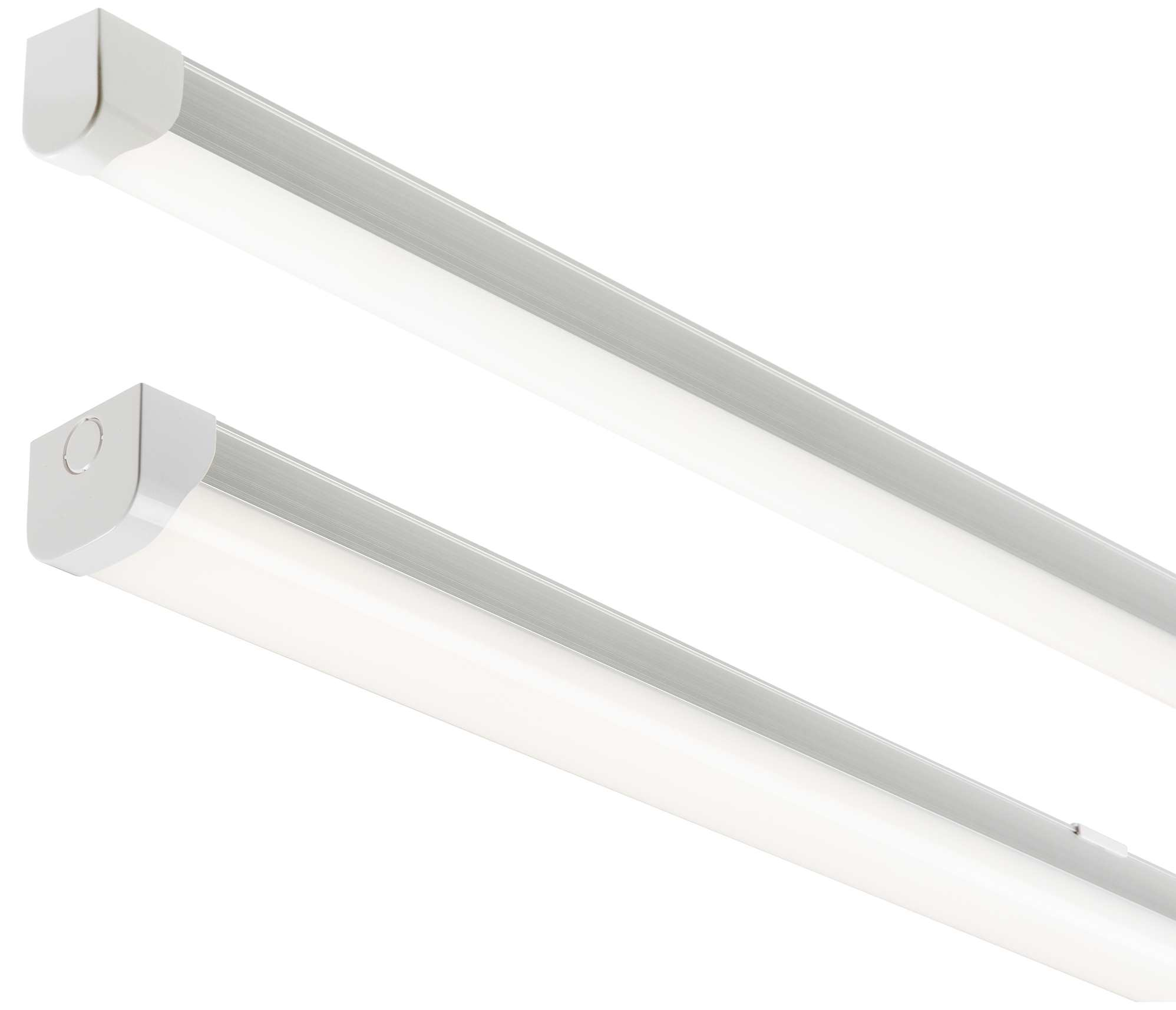 Details about Knightsbridge LED Battens Single or Twin Std or Emergency  Cool White IP20