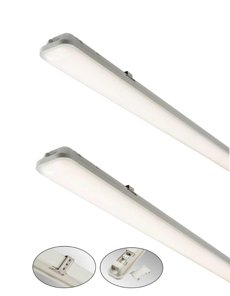 Knightsbridge IP65 LED Non-Corrosive Fittings Standard and Emerg. or Sensor