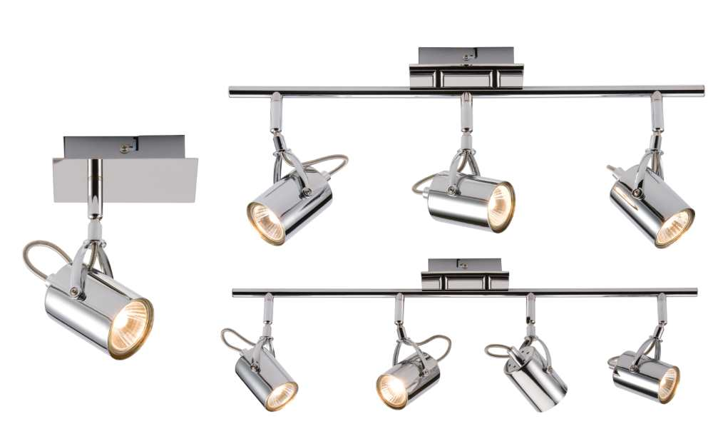 Knightsbridge NSP GU10 Decorative Chrome 1 2 or 3 Spotlights 240V