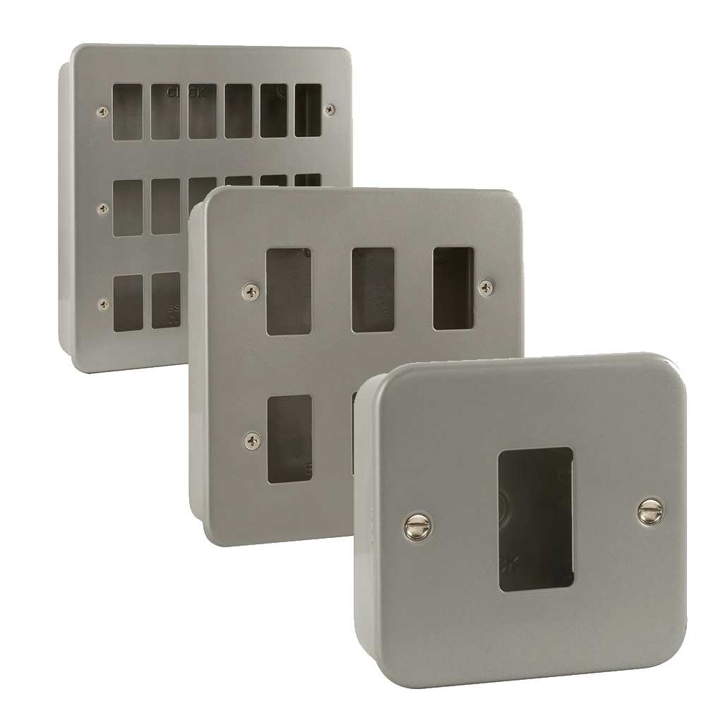 Click Metal Clad GridPro Interchangeable Plates with Surface Back Boxes