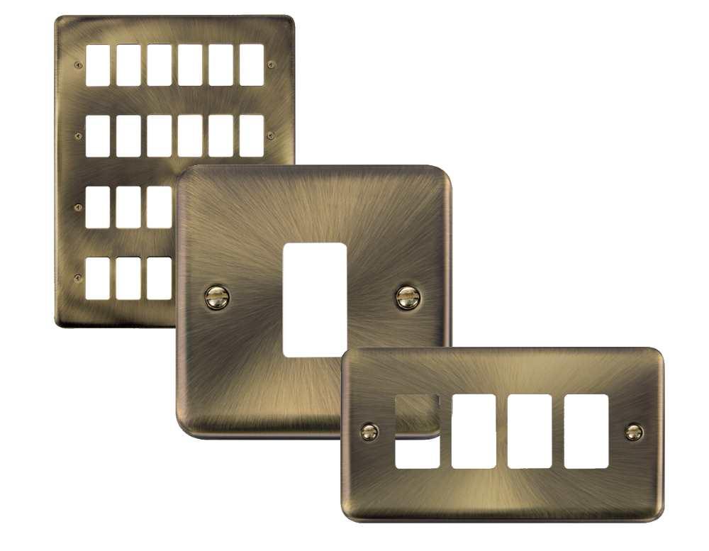 Click Deco Plus GridPro Antique Brass Front Plates