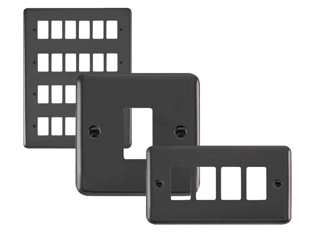 Click Deco Plus GridPro Black Nickel Front Plates