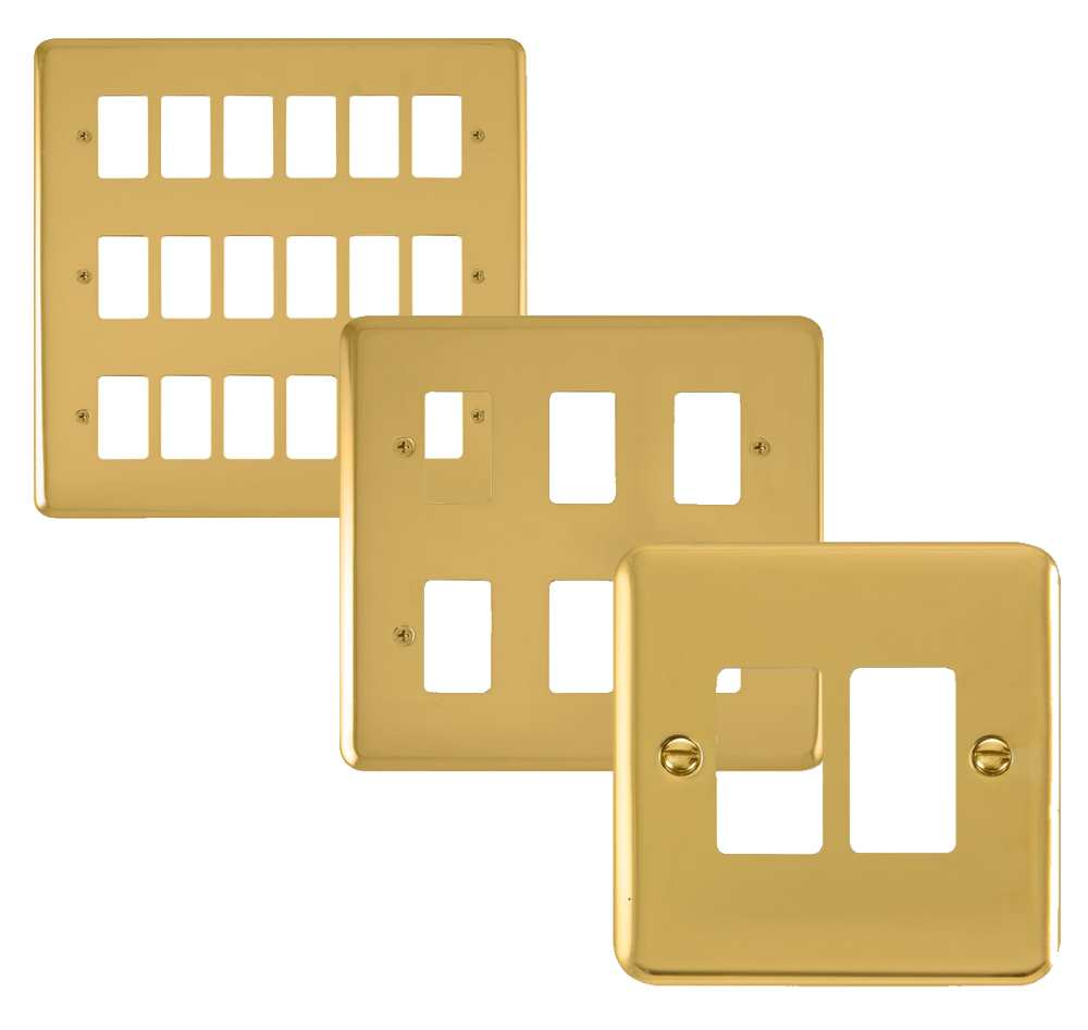 Click Deco Plus GridPro Brass Front Plates