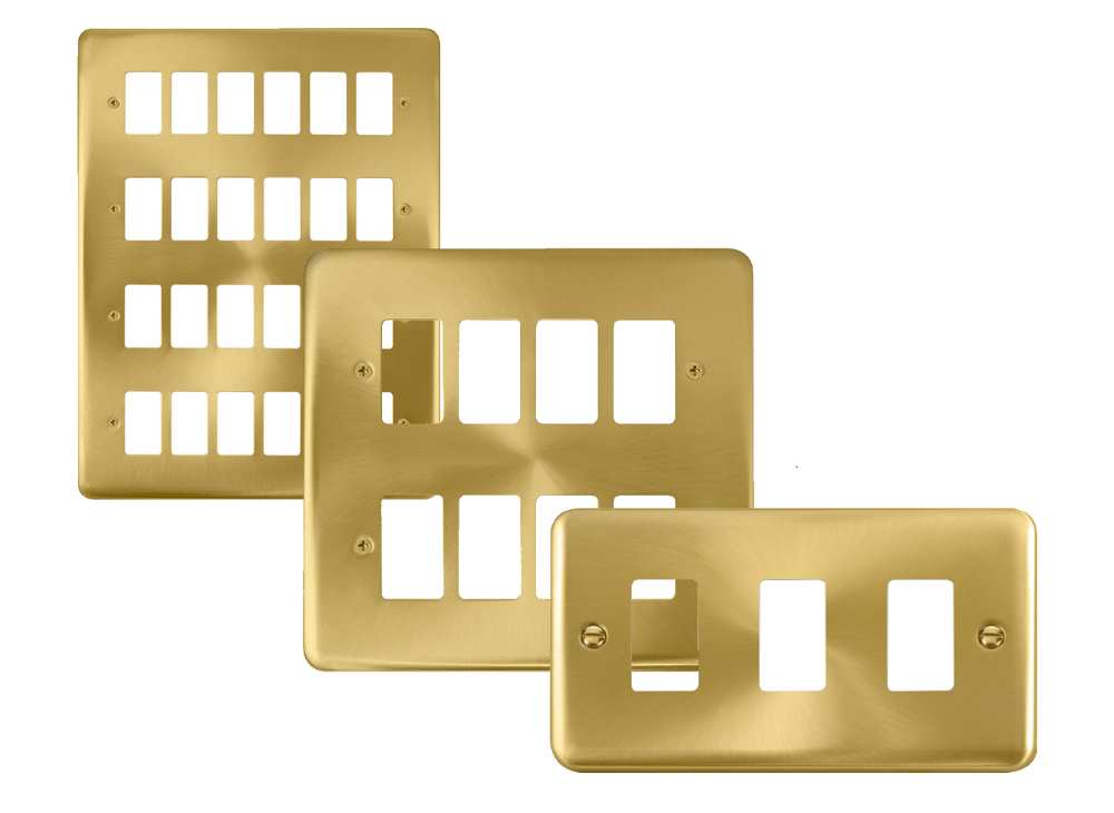 Click Deco Plus GridPro Satin Brass Front Plates