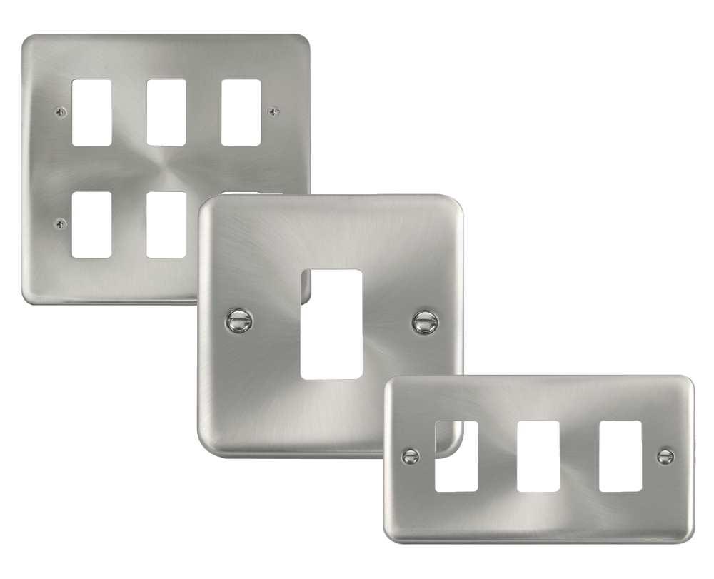 Click Deco Plus GridPro Satin Chrome Front Plates