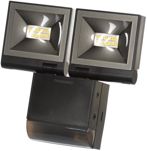 Timeguard Compact Floodlight Single or Twin Standard or PIR Flood Black or White