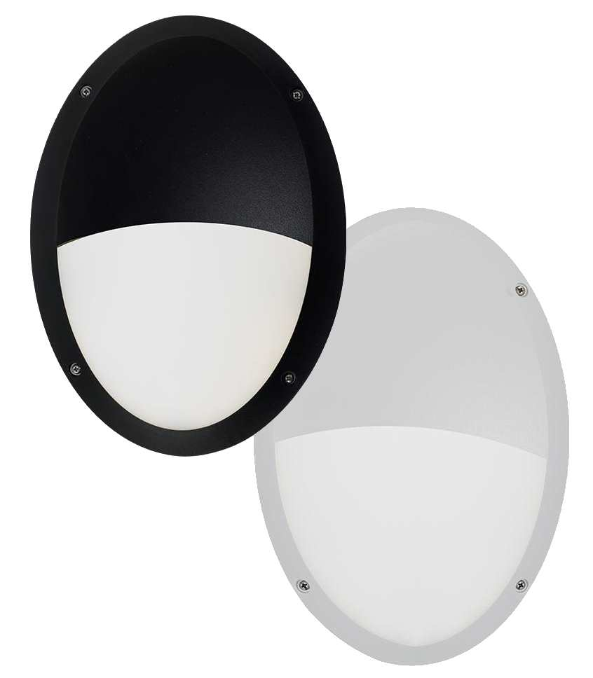 Ansell Ancona 11W LED Oval Bulkhead Black or White IP66