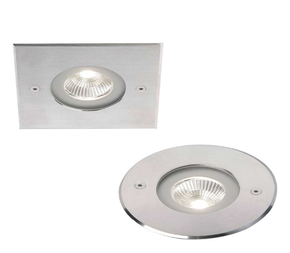Ansell Aspect 7W LED Circular or Square Inground Uplights IP67