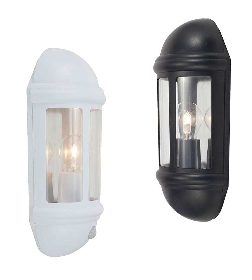 Ansell Latina Half Lanterns Standard PIR or Photocell Black or White IP65