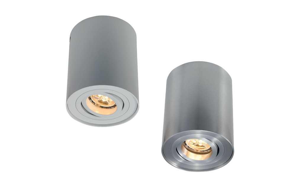 Ansell Novara Surface GU10 Tilt Downlights White or Satin Chrome