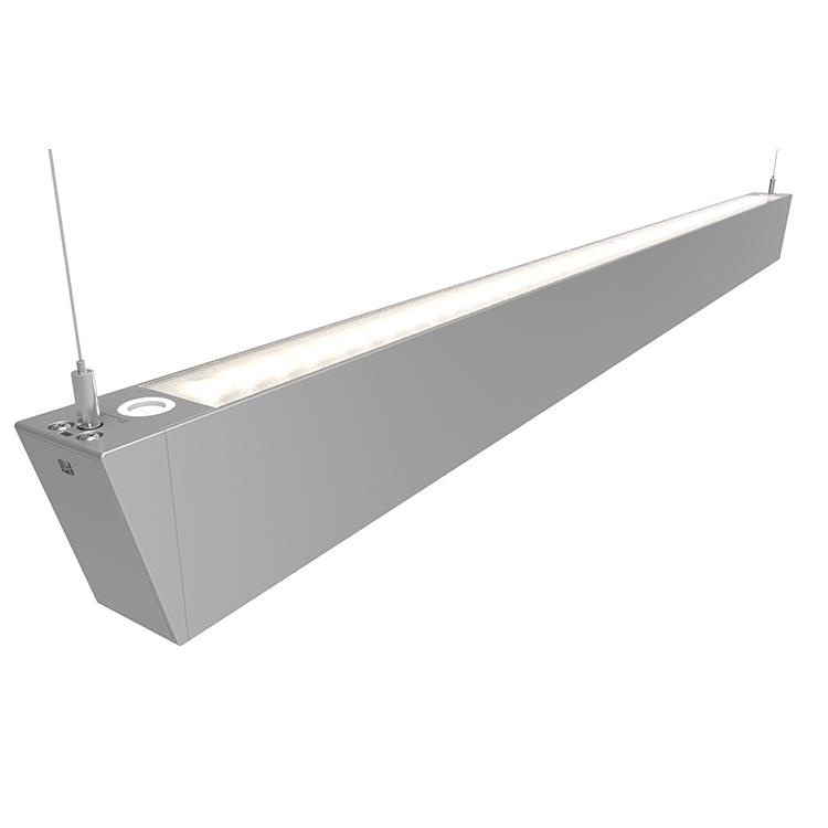 Ansell Otto LED Architectural Suspended Linear Lights Silver