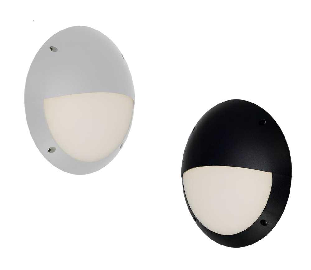 Ansell Pesaro Circular LED Bulkheads Black or White IP68